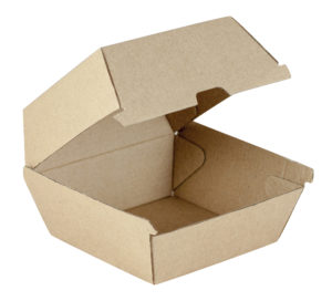 takeaway burger clam shell box brown