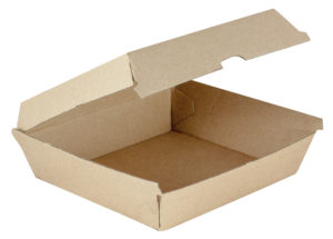 dinner box takeaway container kraft brown