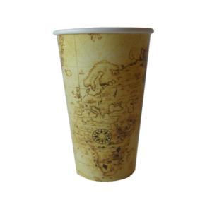 Map Design Single Wall Cup Large