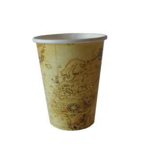 Map Design Single Wall Cup Medium