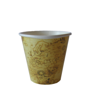 Map Design Single Wall Cup Small